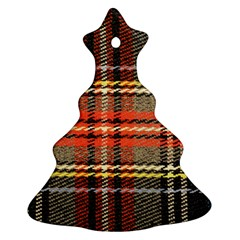 Fabric Texture Tartan Color  Ornament (christmas Tree)