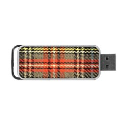 Fabric Texture Tartan Color  Portable Usb Flash (one Side)