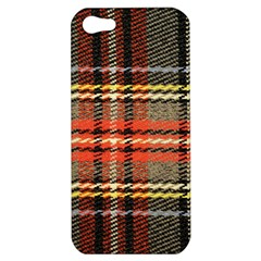 Fabric Texture Tartan Color  Apple Iphone 5 Hardshell Case by AnjaniArt