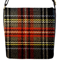 Fabric Texture Tartan Color  Flap Messenger Bag (s) by AnjaniArt