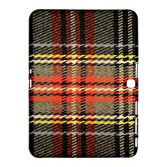 Fabric Texture Tartan Color  Samsung Galaxy Tab 4 (10 1 ) Hardshell Case  by AnjaniArt