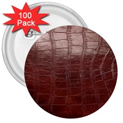 Leather Snake Skin Texture 3  Buttons (100 Pack)