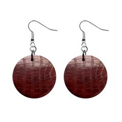 Leather Snake Skin Texture Mini Button Earrings