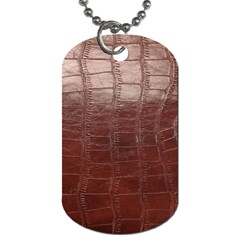 Leather Snake Skin Texture Dog Tag (two Sides) by AnjaniArt