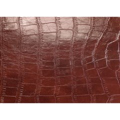 Leather Snake Skin Texture Birthday Cake 3d Greeting Card (7x5) by AnjaniArt