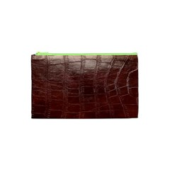 Leather Snake Skin Texture Cosmetic Bag (xs)