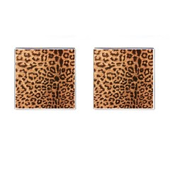 Leopard Print Animal Print Backdrop Cufflinks (square)