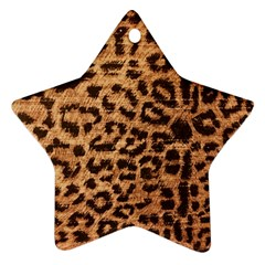 Leopard Print Animal Print Backdrop Star Ornament (two Sides)  by AnjaniArt