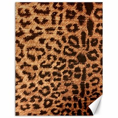 Leopard Print Animal Print Backdrop Canvas 12  X 16   by AnjaniArt