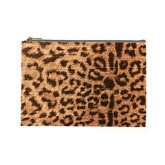 Leopard Print Animal Print Backdrop Cosmetic Bag (large)  by AnjaniArt