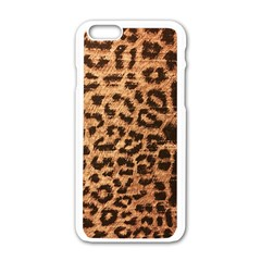 Leopard Print Animal Print Backdrop Apple Iphone 6/6s White Enamel Case by AnjaniArt