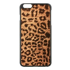 Leopard Print Animal Print Backdrop Apple Iphone 6 Plus/6s Plus Black Enamel Case