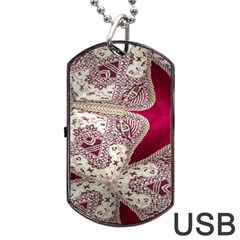 Morocco Motif Pattern Travel Dog Tag Usb Flash (one Side) by AnjaniArt