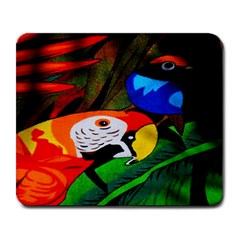 Papgei Red Bird Animal World Towel Large Mousepads by AnjaniArt