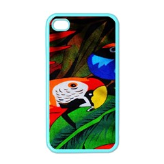 Papgei Red Bird Animal World Towel Apple Iphone 4 Case (color)