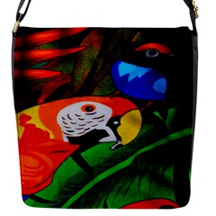 Papgei Red Bird Animal World Towel Flap Messenger Bag (s) by AnjaniArt