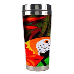 Papgei Red Bird Animal World Towel Stainless Steel Travel Tumblers by AnjaniArt