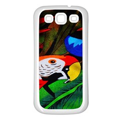 Papgei Red Bird Animal World Towel Samsung Galaxy S3 Back Case (white)