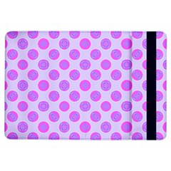 Pastel Pink Mod Circles Ipad Air Flip by BrightVibesDesign