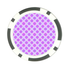 Pastel Pink Mod Circles Poker Chip Card Guards by BrightVibesDesign