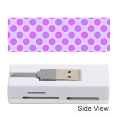 Pastel Pink Mod Circles Memory Card Reader (stick)  by BrightVibesDesign
