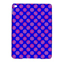Bright Mod Pink Circles On Blue Ipad Air 2 Hardshell Cases by BrightVibesDesign