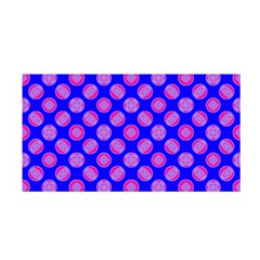 Bright Mod Pink Circles On Blue Satin Wrap by BrightVibesDesign