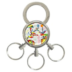 Happy Day 3 Ring Key Chains