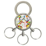 Happy day 3-Ring Key Chains Front