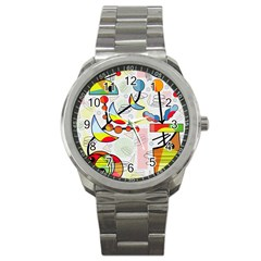 Happy Day Sport Metal Watch by Valentinaart