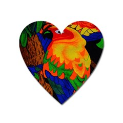 Parakeet Colorful Bird Animal Heart Magnet by AnjaniArt