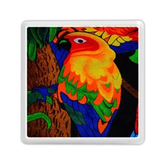 Parakeet Colorful Bird Animal Memory Card Reader (square)  by AnjaniArt