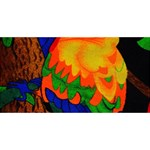 Parakeet Colorful Bird Animal ENGAGED 3D Greeting Card (8x4) Front