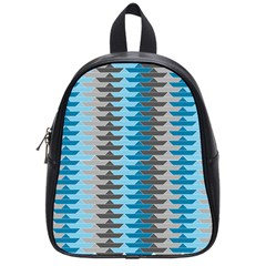 Pattern Boats Background Ship School Bags (small)  by AnjaniArt