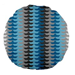 Pattern Boats Background Ship Large 18  Premium Round Cushions