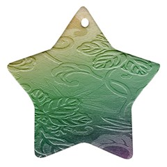 Plants Nature Botanical Botany Star Ornament (two Sides)  by AnjaniArt