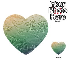 Plants Nature Botanical Botany Multi-purpose Cards (heart)