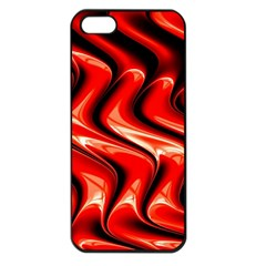 Red Fractal  Mathematics Abstact Apple Iphone 5 Seamless Case (black) by AnjaniArt