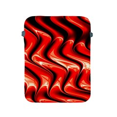 Red Fractal  Mathematics Abstact Apple Ipad 2/3/4 Protective Soft Cases by AnjaniArt
