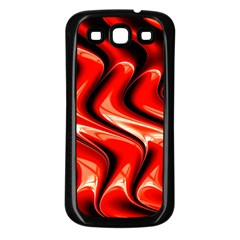 Red Fractal  Mathematics Abstact Samsung Galaxy S3 Back Case (black)
