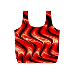 Red Fractal  Mathematics Abstact Full Print Recycle Bags (s)  by AnjaniArt