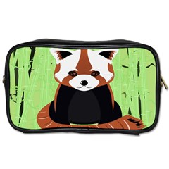 Red Panda Bamboo Firefox Animal Toiletries Bags 2 Side by AnjaniArt