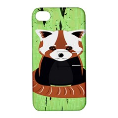 Red Panda Bamboo Firefox Animal Apple Iphone 4/4s Hardshell Case With Stand by AnjaniArt