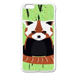 Red Panda Bamboo Firefox Animal Apple Iphone 6 Plus/6s Plus Enamel White Case by AnjaniArt