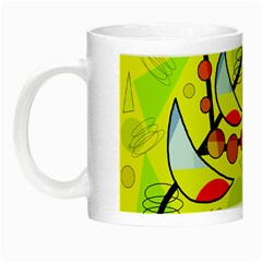 Happy Day   Yellow Night Luminous Mugs by Valentinaart