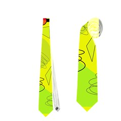 Happy Day   Yellow Neckties (one Side)  by Valentinaart