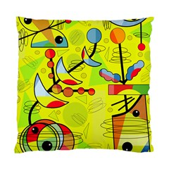 Happy Day   Yellow Standard Cushion Case (one Side) by Valentinaart