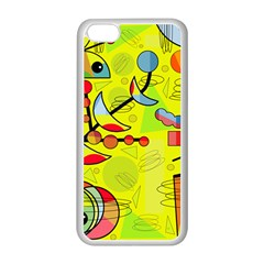Happy Day   Yellow Apple Iphone 5c Seamless Case (white) by Valentinaart