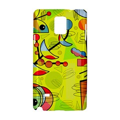 Happy Day   Yellow Samsung Galaxy Note 4 Hardshell Case by Valentinaart