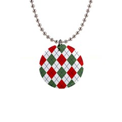 Red Green White Argyle Navy Button Necklaces